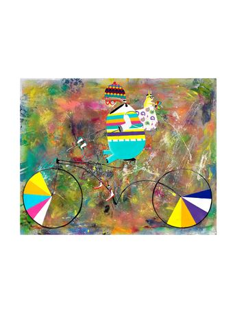 Uma-Bicicleta-Especial-Tela-de-Algodao