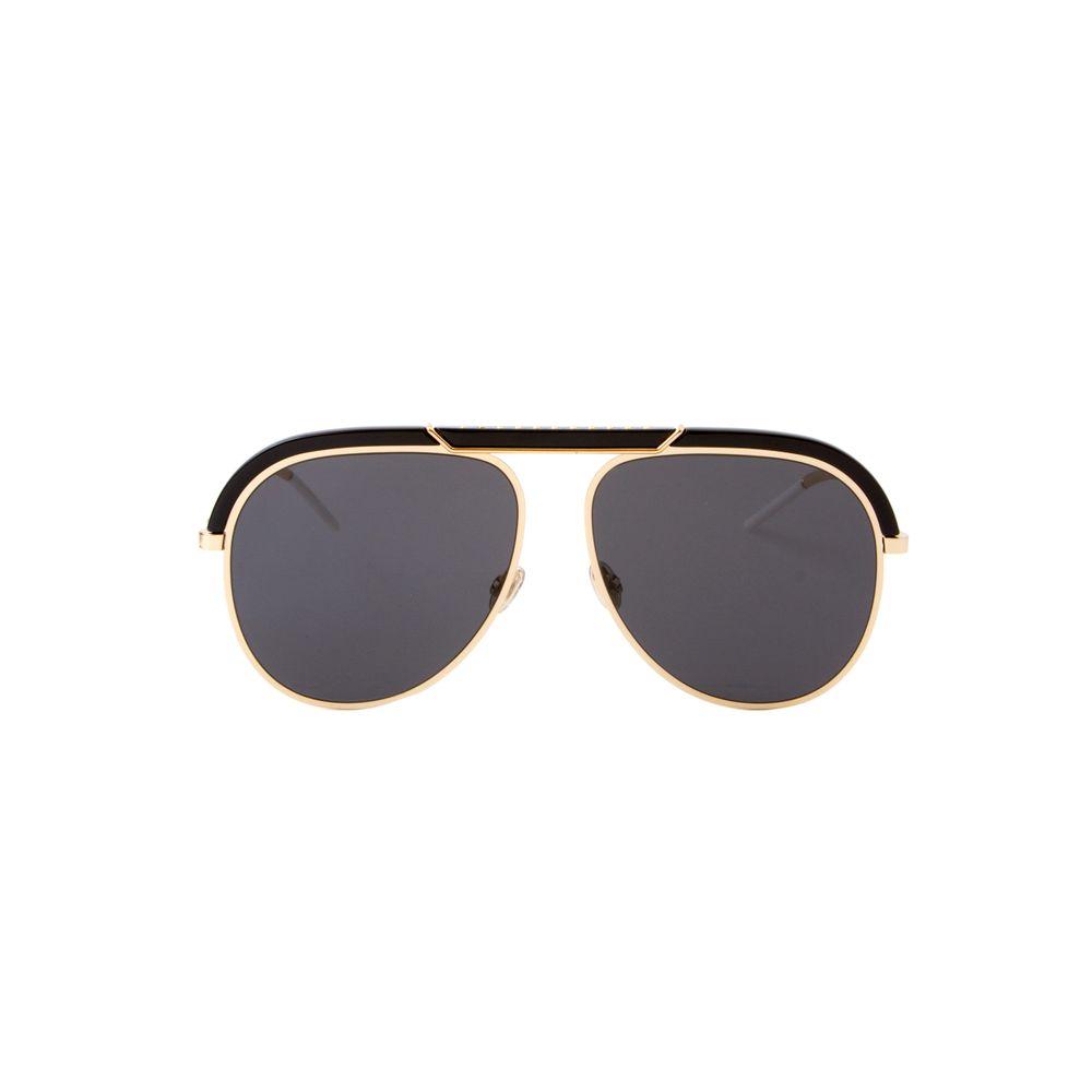Óculos de Sol Christian Dior Desertic Dourado e Preto - Shopping ... 9ea0f50f94