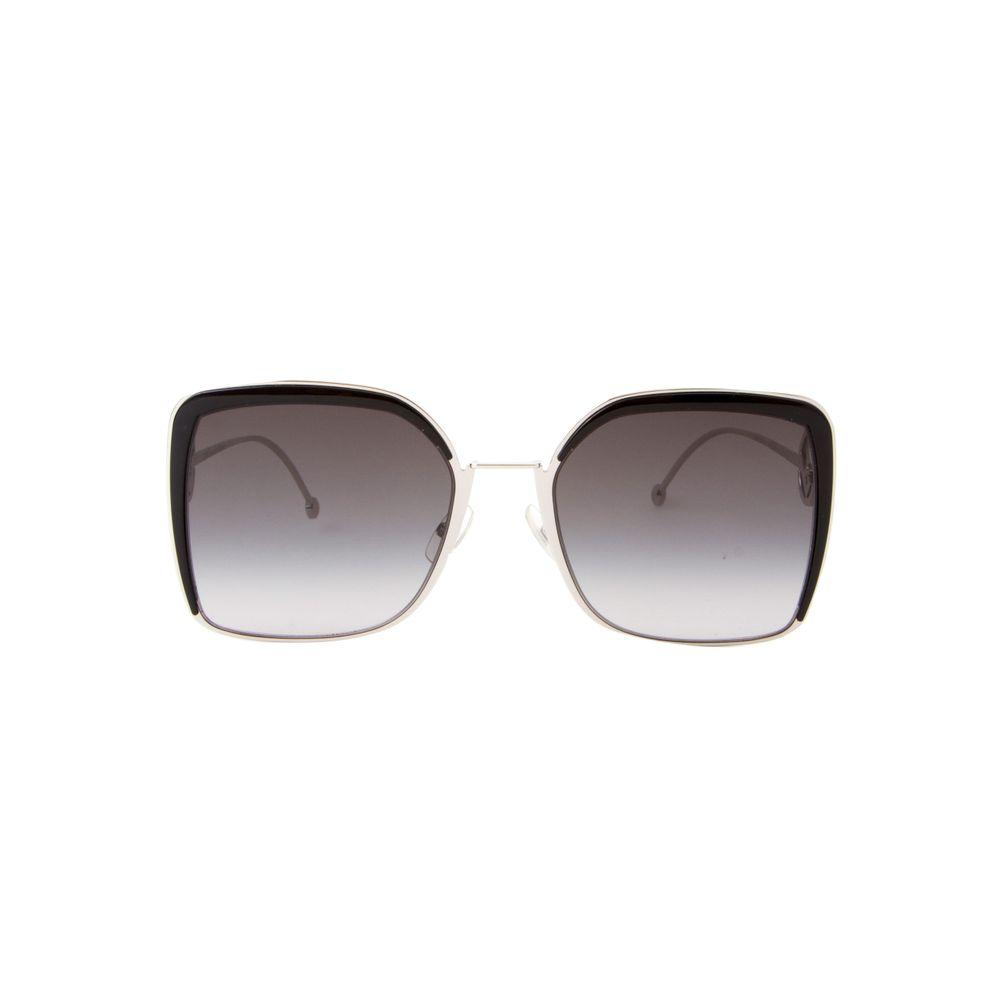 Óculos de Sol Fendi Maxi Quadrado 0294S Prata e Preto - Shopping ... 7f40046709