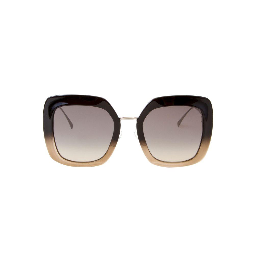 Óculos de Sol Fendi Maxi Quadrado 0317S Preto e Prata - Shopping ... b837fcee96