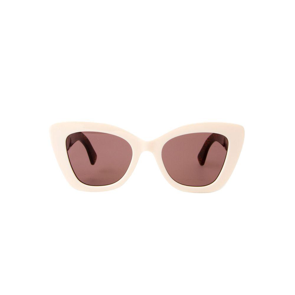 86c73c74f Óculos de Sol 0327S Off White e Estampado Marrom - Shopping Cidade ...