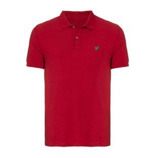 Camisa-Polo-Lhama-Stretch-de-Algodao-Vermelha