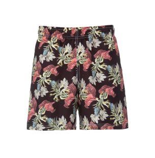 Shorts-Floral-Preto