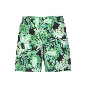 Shorts-Folhagem-Estampado-Verde