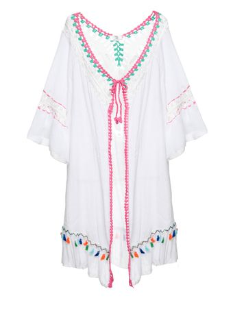 Kimono-Aberto-com-Pompom-India-Branco