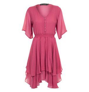 Vestido-Mini-Babado-de-Seda-Rosa