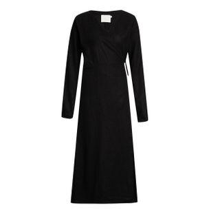 Vestido-Transpassado-Chemise-de-Linho-Preto