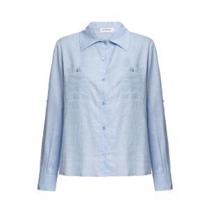 Camisa-Verona-de-Linho-Azul