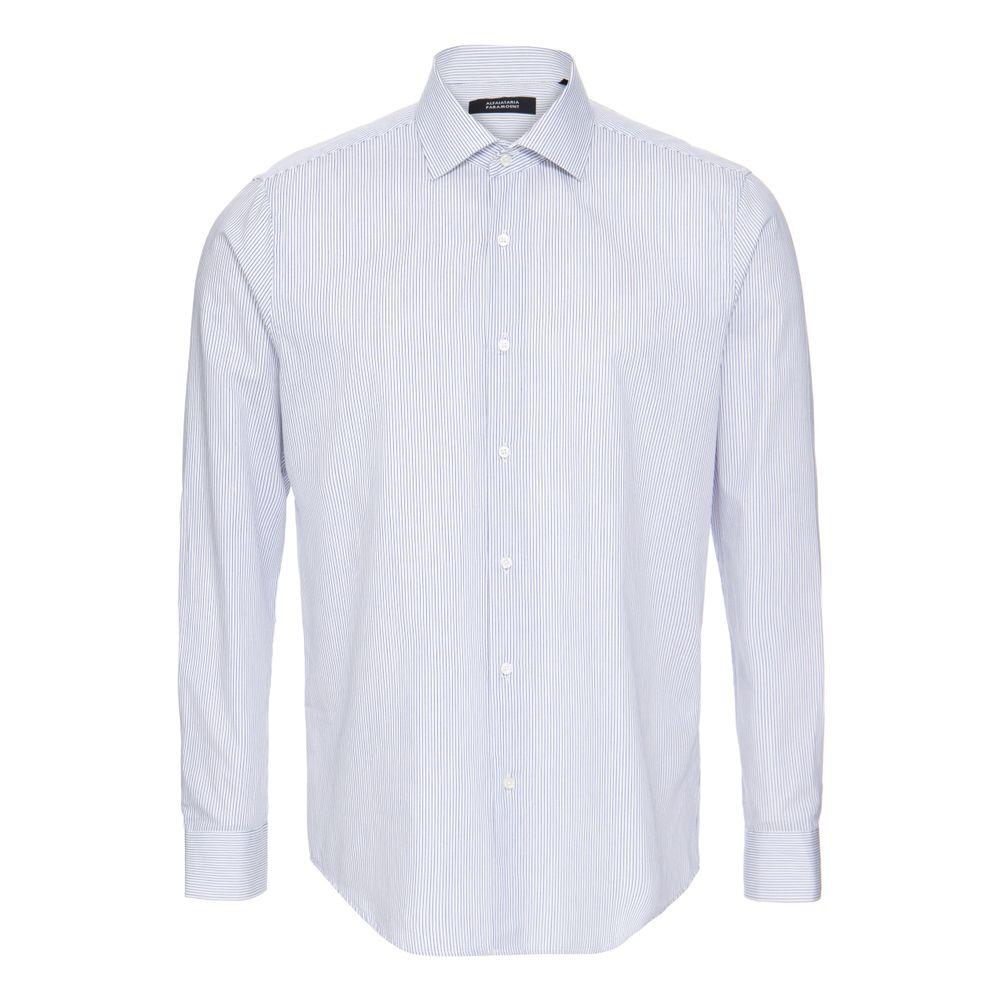 ee24cc27fd Camisa Social Estampada de Algodão Azul - Shopping Cidade Jardim