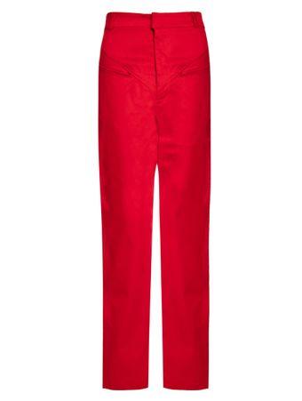 Calca-Reta-Color-de-Algodao-Vermelha