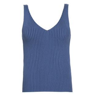 Blusa-Trico-Decote-V-Azul