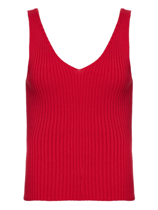 Blusa-Trico-Decote-V-Vermelha