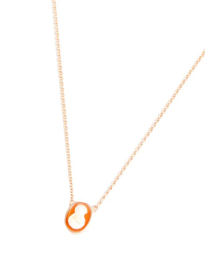 Escapulario-Coral-Oval-Nossa-Senhora-de-Prata-Revestido-de-Ouro-Rose