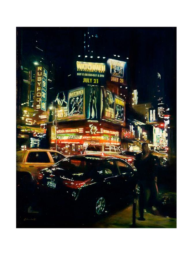 Watch-Time-Street-in-NY-Tela-de-Algodao