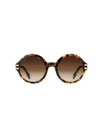 Oculos-de-Sol-Redondo-Estampado-Marrom