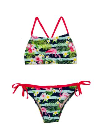Biquini-Top-Flamingos-Floral-Azul