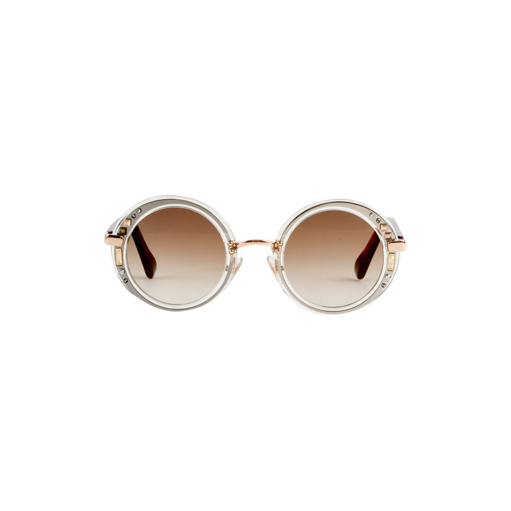 811b2781ffbb8 Óculos de Sol Jimmy Choo Gem S Transparente e Marrom - Shopping ...
