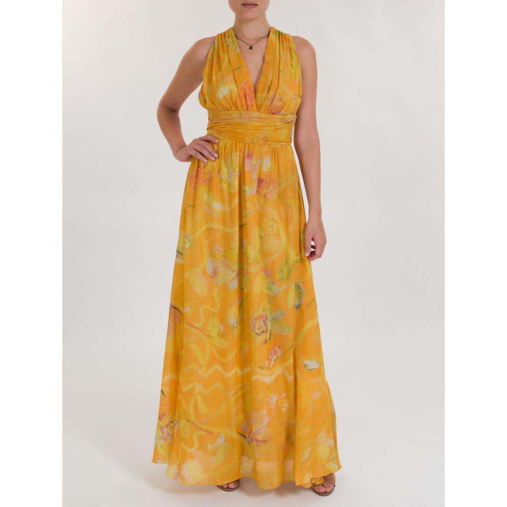 78c61d242220cc Vestido Amália de Algodão Estampado Amarelo - Shopping Cidade Jardim