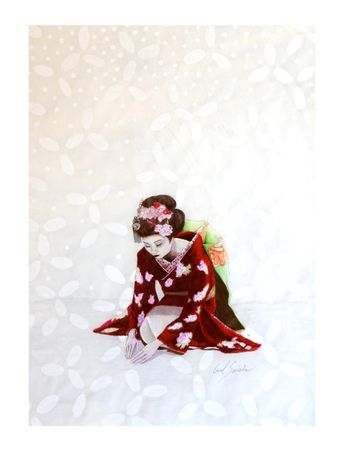 Gueisha-Sakura-Papel-Algodao