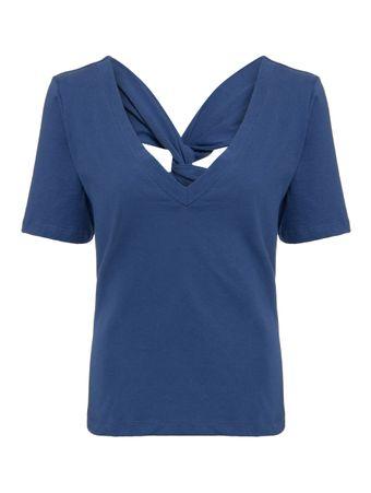 Blusa-Decote-V-Azul