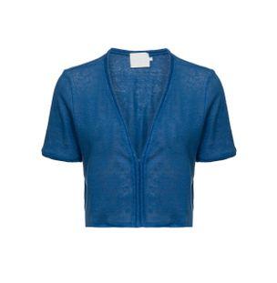 Blusa-Cropped-Decote-V-Azul