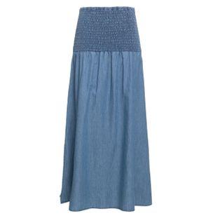 Saia-Midi-com-Fenda-Lateral-Lastex-Azul