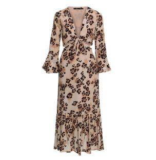 Vestido-Midi-Margaret-Onca-de-Seda-Estampado-Nude