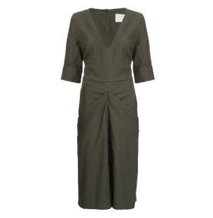 Vestido-Midi-New-Look-de-Algodao-Verde
