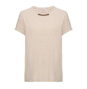 Camiseta-bege-gola-monili