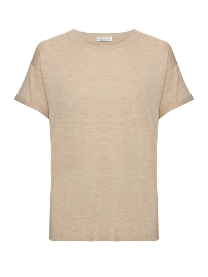 Camiseta-Lurex-Bege