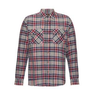 Camisa-Dois-Bolsos-de-Algodao-Xadrez