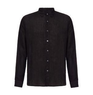 Camisa-Manga-Longa-de-Linho-Preta