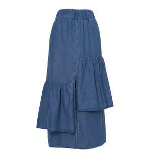 Saia-Midi-Jeans-Fredi-Babados-Azul