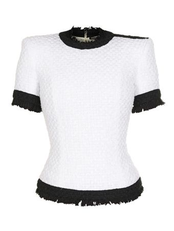 BLUSA-SERVISTYL-TOP-TWEED-FCN-GAB-WHITE-BLACK