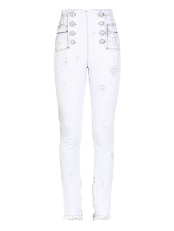 CALCA-BLEACHED-CRACKED-DENIM-8-BTN-PANTS-GAE-WHITE-BLUE
