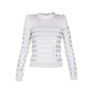 SWEATER-LS-3-BTN-SILVER-STRIPE-SWEATER-GAC-WHITE-SILVER