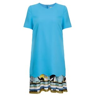 Vestido-Mini-Manga-Curta-Azul