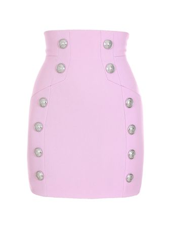 SAIA-CURTA-SHORT-HIGH-WAIST-GRAIN-DE-POU-4AE-PINK-BABY