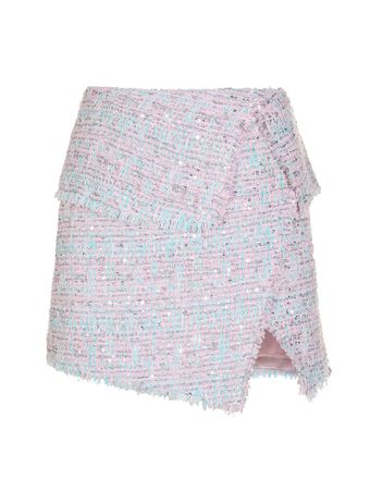SAIA-CURTA-SHORT-TWEED-WRAP-SKIRT-OAX-PINK-MINTH-SILVER