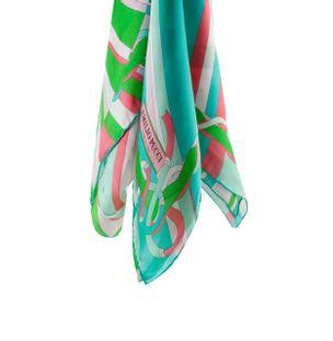 Echarpe-de-Seda-Estampada-Verde