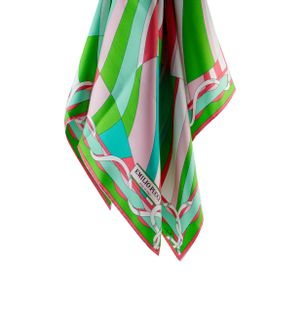Lenco-de-Seda-Estampado-Verde-e-Rosa