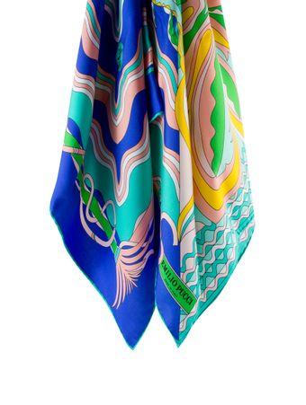 Lenco-de-Seda-Estampado-Verde-e-Azul
