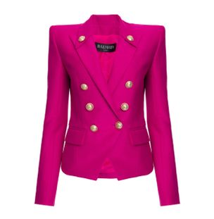 BLAZER-4-BTN-PEAK-LAPEL-COTTON-JACKET-4PA-PINK-FUCHSIA