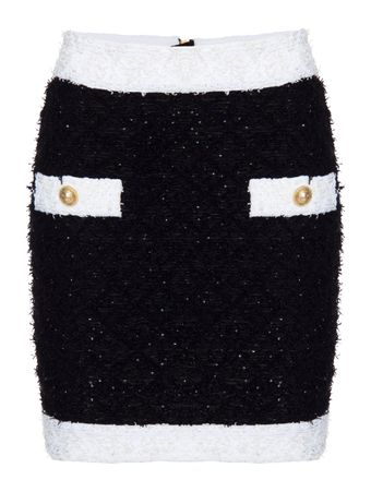 SAIA-SHGOLDT-TWEED-SKIRT-EAB-BLACK-WHITE