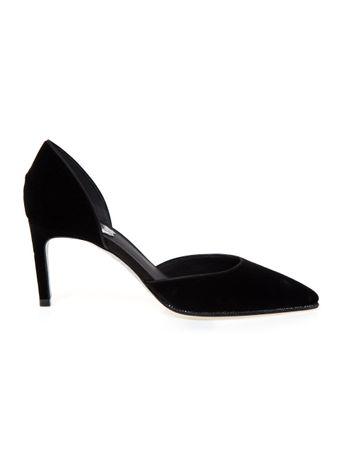 Sapato-Decollete-Salto-Medio-Strass-Preto
