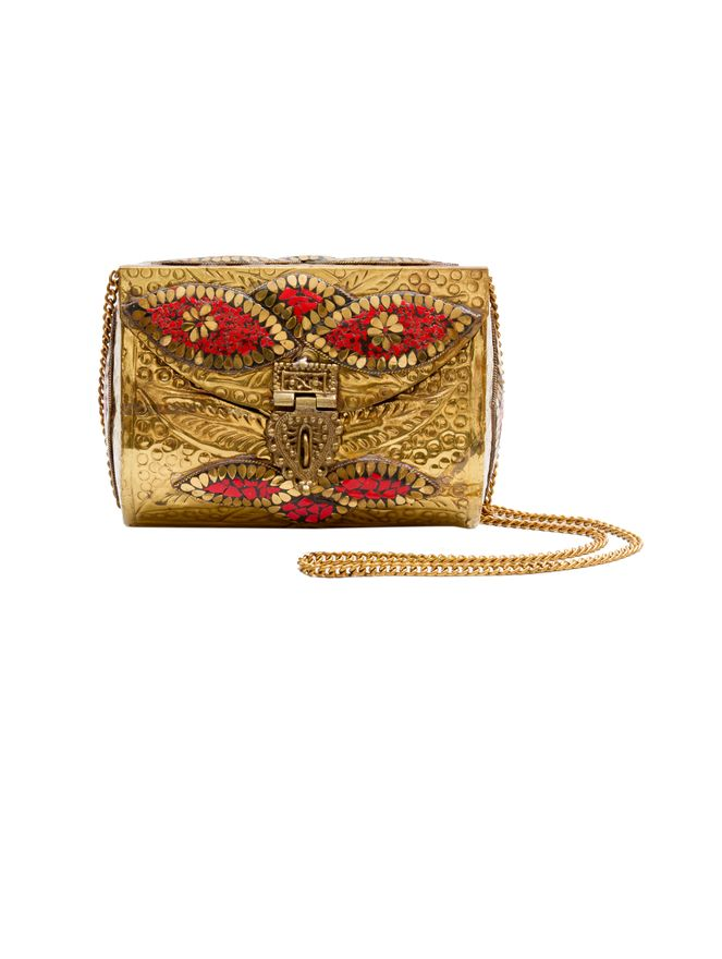 Bolsa-Mini-Catarina-de-Metal-Dourada