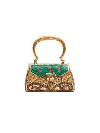 Bolsa-Mini-Soraya-de-Metal-Dourada