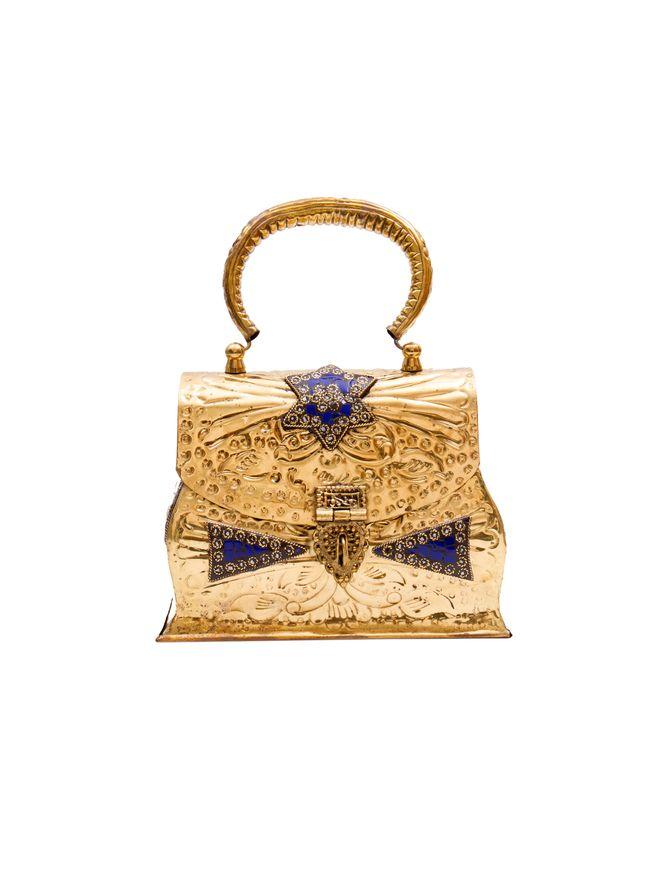 Bolsa-Mini-Samira-de-Metal-Dourada