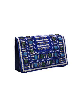 Bolsa-Tiracolo-Bordada-Azul