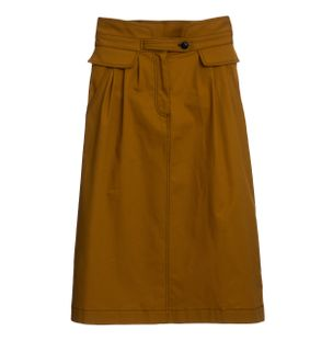 SAIA-STEVIE-MIDI-SKIRT-BRASS